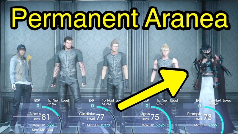 Final Fantasy XV: Unlock 5 Party Members (Permanent Aranea)