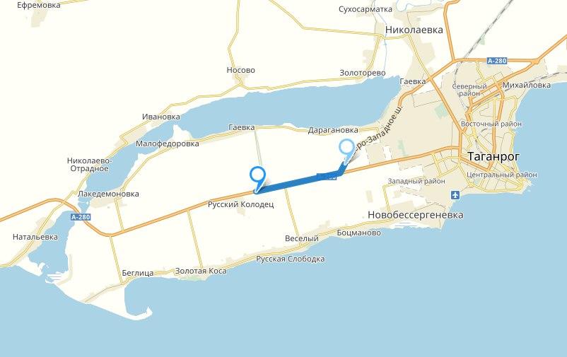 Под Таганрогом начат капитальный ремонт 7-километрового участка трассы А-280 «Ростов – Таганрог – граница с Украиной»