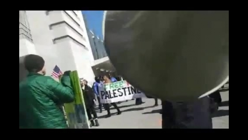 ANTIFA Anti White Jew Girl Exposed at AIPAC 2018