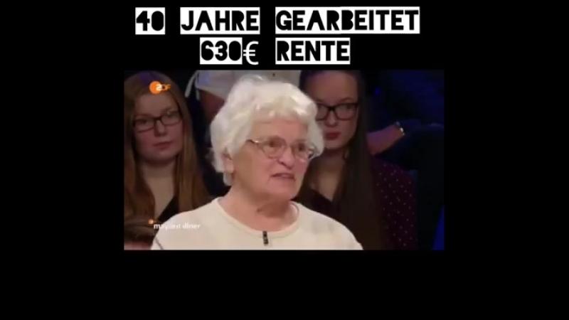 Armes Deutschland selbst wenn man 40 jahre gearbeitet hat.