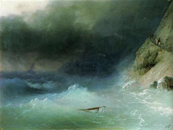 Картина «Буря у скaлистых берегов»,1875 год.