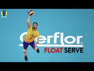 Top 20 incredible float serve. the recipient faltered.
