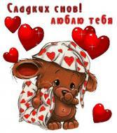 сладких снов, люблю тебя, спокойной ночи!