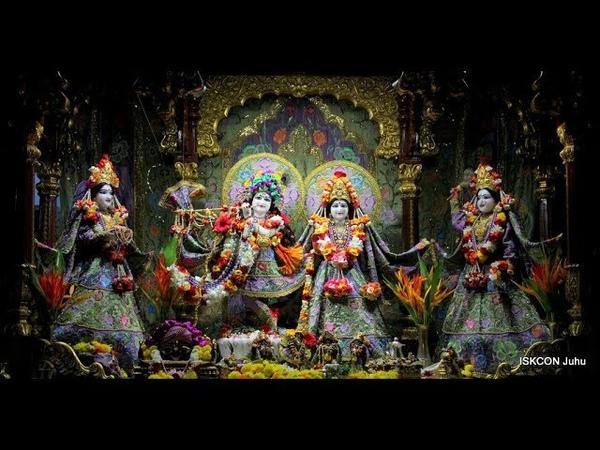Sringar Arati Darshan Sri Sri Radha Rasbihari Temple 14th Sep 2018 Live from ISKCON Juhu, Mumbai