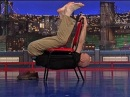 David Letterman - Stupid Human Trick: Man Traverses a Chair
