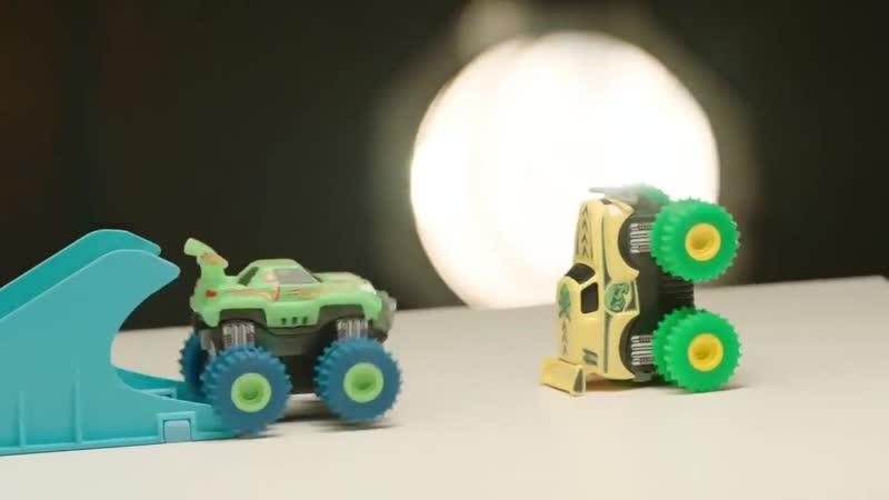 Игрушка_Машинки Trix Trux_ездят по канатам и на двух колесах