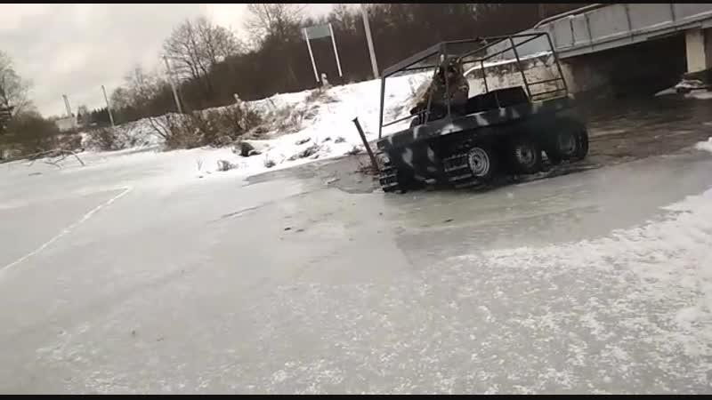 Добрыня Транспортер выход на лед