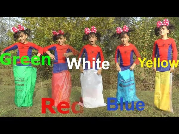 Learn Sack Colors With Five Little Babies Jumping On The bad Good Song For Kids By Fun Learning Show
