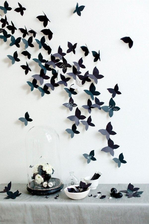 Сделать бабочки на обои