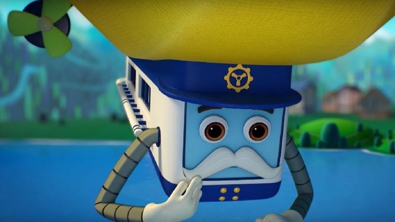Домики - Дирижабль– Обучающий мультфильм для детей - Германия