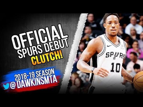 DeMar DeRozan Official Spurs DEBUT 2018.10.17 vs TWolves - 28 Pts, CLUTCH!   FreeDawkins