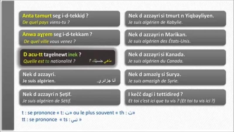 Amazigh Kabyle Tamsirt tis 2