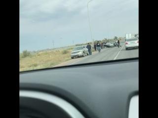 Страшная авария...Балхаш. Трасса Алмата -Екатеренбург.  Один человек погиб.