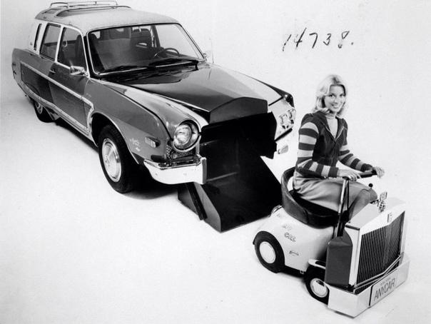 AnyCar Перед вами концепт-кар, построенный в середине 70-х гг. американским дизайнером Джорджем Беррисом по заказу американской компании Manufacturers Hanover Trust Company При постройке AnyCar