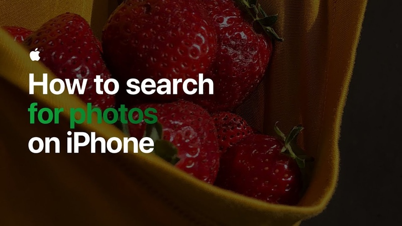 How to search for photos on iPhone Apple