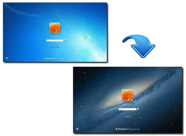Как изменить картинку на заставке Windows 7