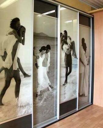 Идея - декор шкафа с вашими фотографиями