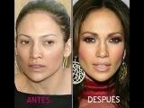 Famosas Con y Sin Maquillaje