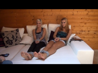 Two girls with great feet tied and tickeld part 1