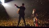 Hayley Kiyoko joins Brendon Urie on stage to perform GirlsGirlsBoys