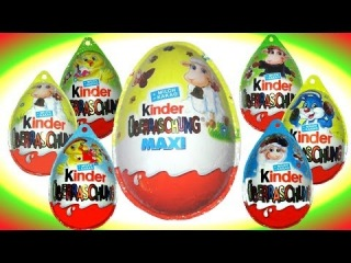 Easter eggs - Kinder Surprise Maxi Surprise Toys Story my Video Animation