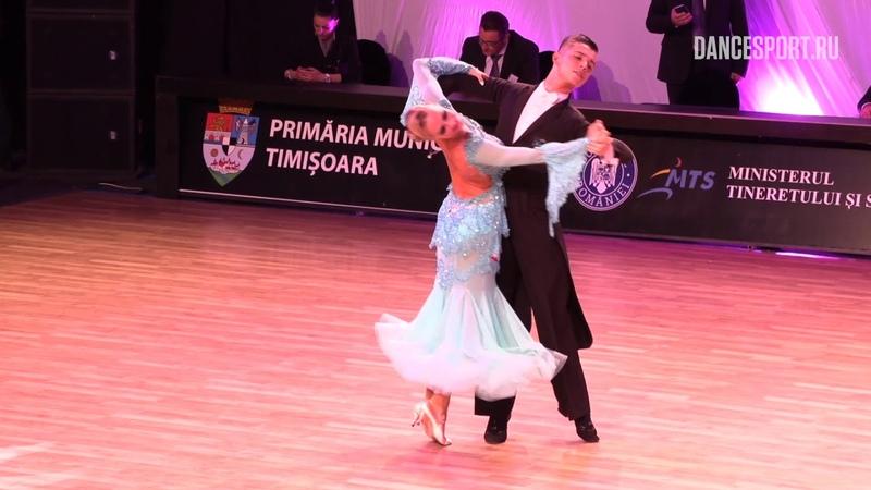 Vladislav Untu - Polina Baryshnikova MDA, Slow Foxtrot | WDSF European Championship Youth Standard