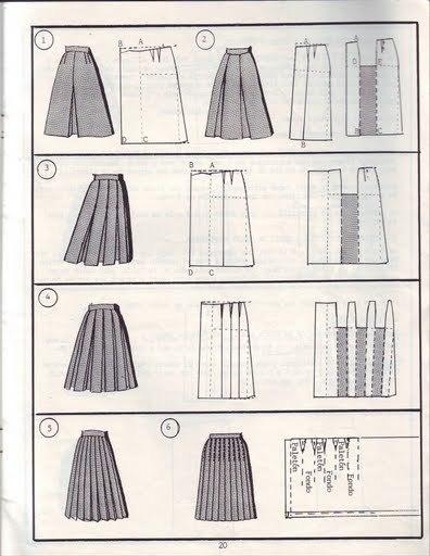 Выкройка для юбки в пол из шифона