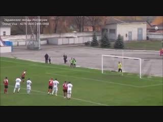 Украинский вратарь отбил пенальти головой