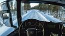 POV Driving Scania S520 - Winter road in Sweden