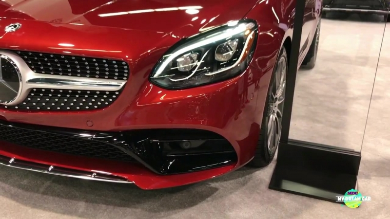 2018 Mercedes SLC 300 Roadster Exterior and Interior Walk around Auto Show