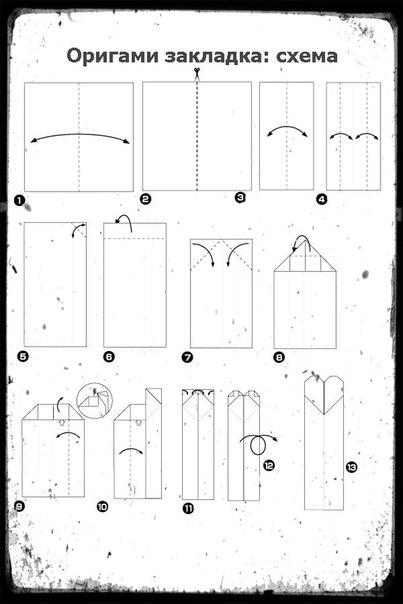Как сделать книгу из бумаги схема