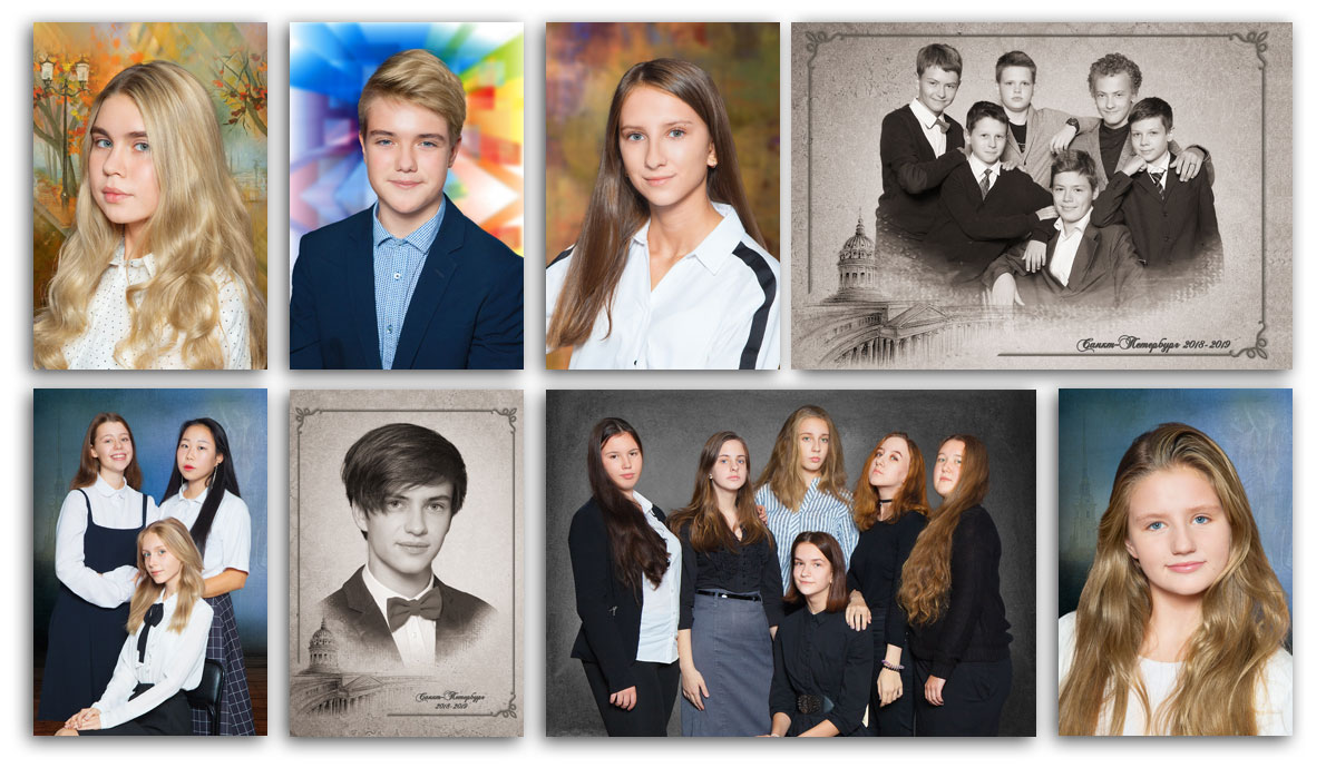 Фотосессия встарших классах вгимназии №114Выборгского района Санкт-Петербурга . Портретная исюжетная фотосъёмка