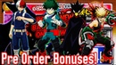 Pre Order Bonuses My Hero Academia One Justice Revealed Scan