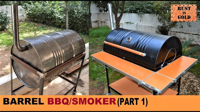 HOW TO BUILD A BARREL BBQ SMOKER PART 1