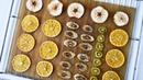 Как сушить АПЕЛЬСИНЫ для декора ☆ Фруктовые ЧИПСЫ бананы яблоки киви