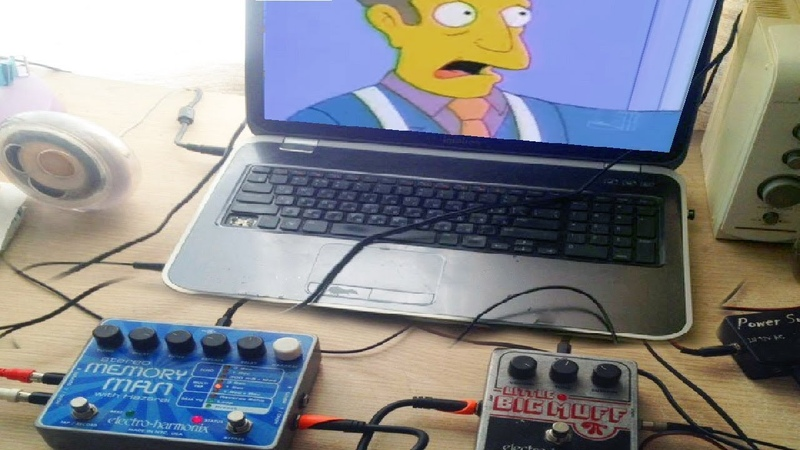 Steamed hams but through guitar pedals