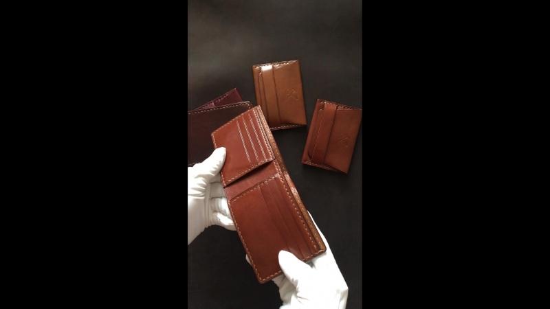 Кардхолдер S и портмоне классик из кожи Аванкорпо