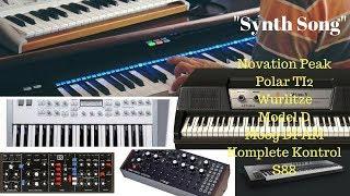 NEW SYNTH SONG DFAM Polar TI2 Novation PEAK Wurlitzer Model D