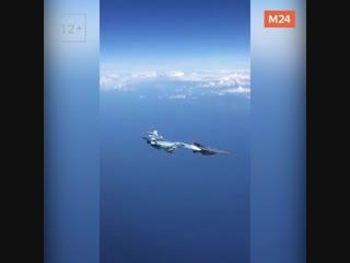 В Сети обсуждают видео жёсткого перехвата Су-27 самолёта НАТО