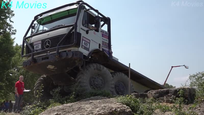 Mercedes Benz Truck , 8x8 _ Europe Truck Trial _ Montalieu-Vercieu _ France _ Participant no. 402