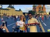الجنبية اليمنية تخطف أنظار مشجعي كأس العا&#16