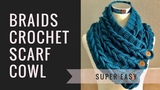 Left Hand Crochet Tutorial - The Braided Cowl