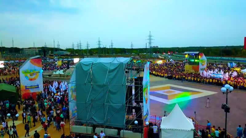 Открытие фонтана Россия Ставрополь Съемки с высоты птичьего полета