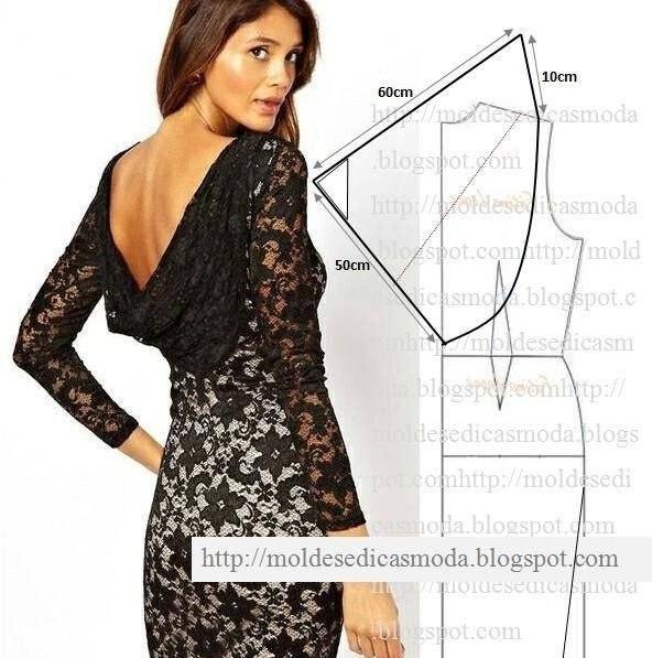 Выкройка платье качели на спине
