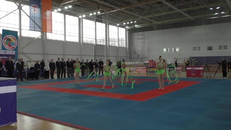 Показательное выступление спортсменок отделения художественной гимнастики