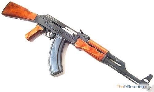Разница между автоматом и пулеметом Внешне автомат и пулемет схожи: оба имеют довольно длинный ствол, магазины на несколько десятков патронов, способны стрелять длинными очередями. Как автомат,