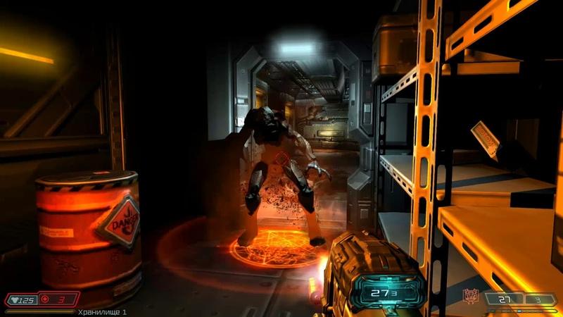 Doom 3: BFG Edition / Прохождение / Уровень 23 / Центральные серверные банки
