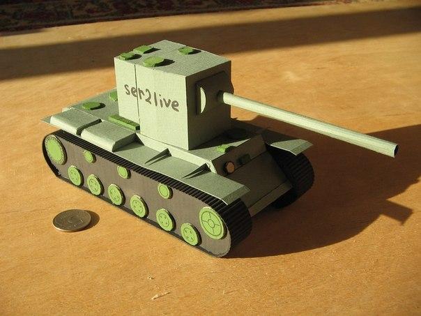 Сделать танк из бумаги своими руками 109