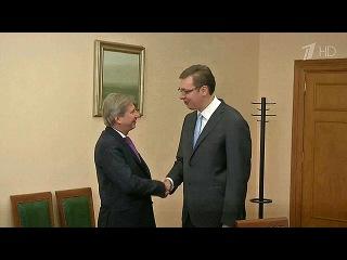 Премьер-министр Сербии сообщил, что Белград не будет вводить санкций против России - Первый канал
