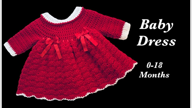 Left handed - Crochet baby girl's dress from 0-18 months by Crochet for Baby 160